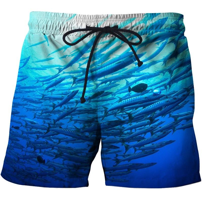 New Casual Summer Beach Shorts Mens Fishing Printed 3D Board Shorts Male Surfing Shorts Man Swiming Shorts Drop Ship