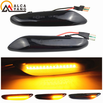 2x Dynamic LED Fender Light Side Marker For BMW 1 3 5 serie E46 E60 E61 E81 E82 E87 E88 E90 E91 E92 E93 X1 E84 X3 E83 X5 E53 image