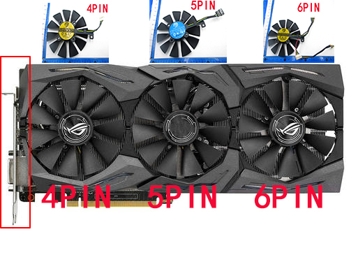 New PLD09210S12M PLD09210S12HH Cooling Fan For ASUS Strix GTX 1060 OC 1070 1080 GTX 1080Ti RX 480 GPU VGA cooler graphics Fan image