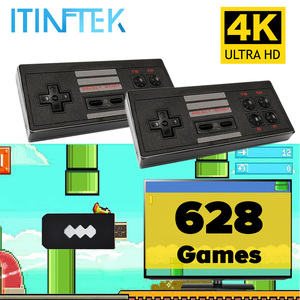 Built In 628 8 Bit Classic Games Children Mini Nostalgic TV Video Handheld Game Console 4K HDMI Retro Player Wireless Controller