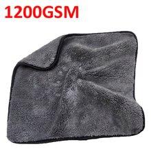 Lavagem de carro 1200gsm carro detalhando microfibra toalha de limpeza de carro pano de secagem grosso lavagem de carro pano para carros cozinha cuidados com o carro pano