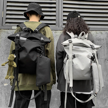 Travel bag school bag men's bag large capacity backpack female fashion trend casual backpack travel backpack harajuku style clear duck cute canvas women backpack school backpack for teen girl female travel bag large capacity backpack