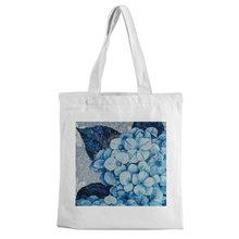 Tote bag Mosaic picture print canvas bag leisure large shopping bag white fashion environmentally friendly canvas bag