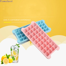 Mold Popsicle-Mold Ice-Box Ice-Cream-Making Cute Tray 36-Grid Silicone Glue with Lid