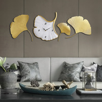 Modern Large Wall Clock 3d Gold Living Room Creative Wall Clock Luxury Mural Gift Idea Relojes Madera Pared Home Decor DD45WC
