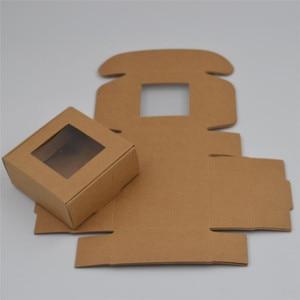 Image 5 - 50pcs/lot Small Paper Box white gift Box Packaging Party Favor Box Brown Kraft Cardboard Box black Carton packaging window boxes