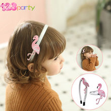 1pc Flamingo Hairpin Prendedor de Cabelo headband Bonito Bordado Flamingo Hairpin Meninas Acessórios de Cabelo Pin Hairpin Crianças Kid Headwear(China)