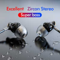 ROCKSPACE Zircon Stereo Wired Earphone Quality Sound Earbuds for iPhone Earphones Hands Free Headset with Mic Sport Headphones
