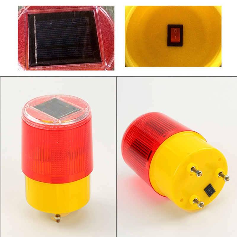 0.3w Solar Powered Emergency Strobe Warning Light Wireless Flashing Traffic Lamp J6PB
