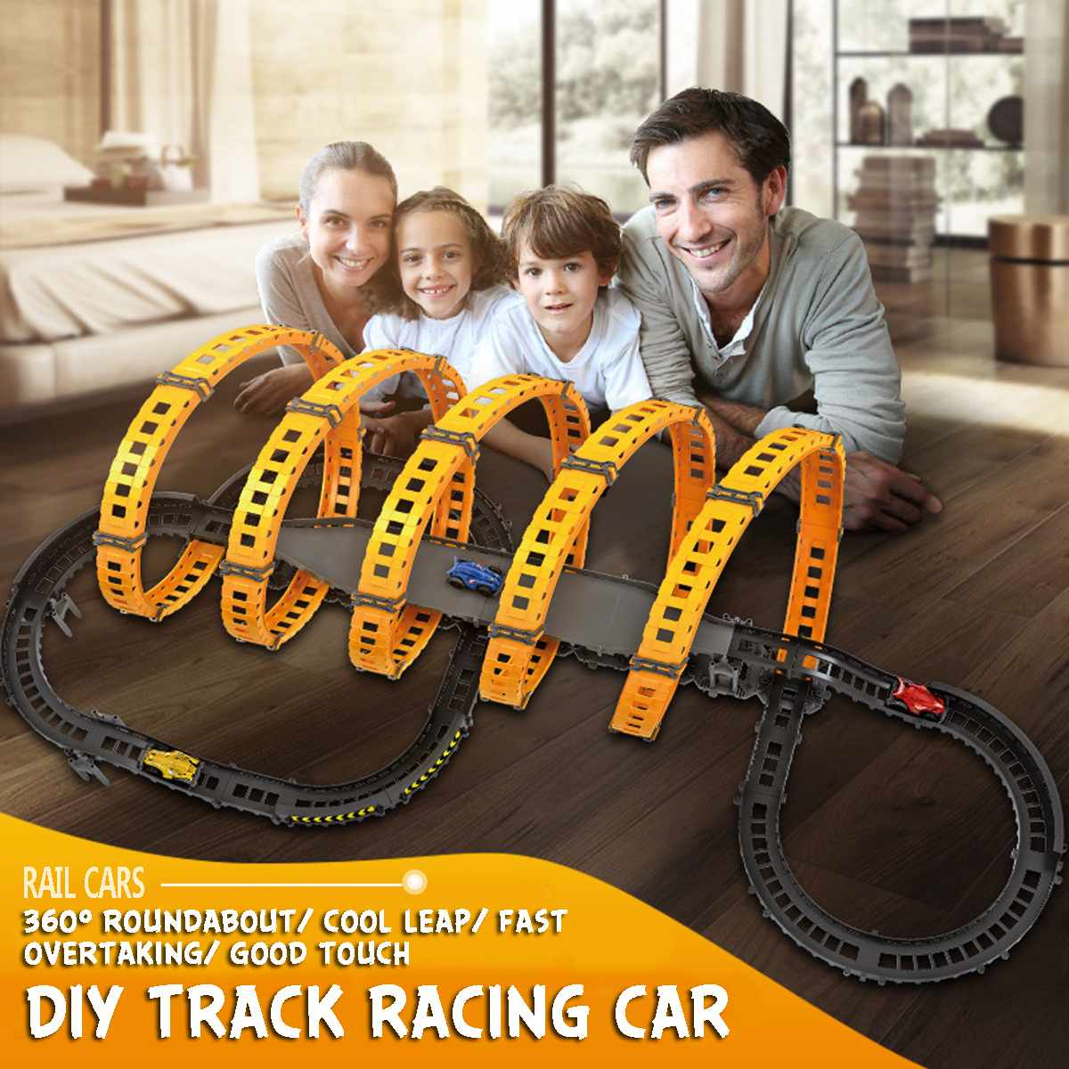 RC Toy Race Track DIY Remote Control Kids Car Electric Handle Control Racing Car Track Model Toy Railway Road Toy