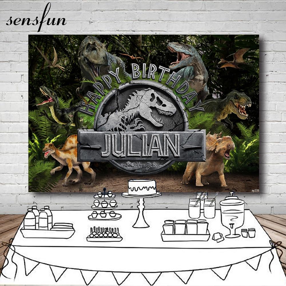 Декорации для фотосъемки вечеривечерние динозавра юрского периода Sensfun для студийной фотосъемки лес дети день рождения фотография фоны 7x5 ...