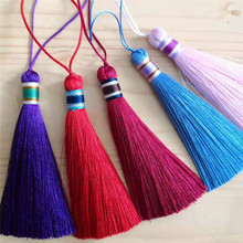 Color imitation ice silk tassel clothing accessories jewelry tassel handmade jewelry curtain home textile DIY accessories