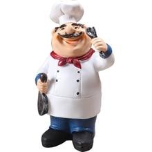 Лидер продаж, Ретро модель шеф-повара, украшения, изделия из смолы, мини-фигурки шеф-повара для дома, кухни, ресторана, бара, кофейного декора
