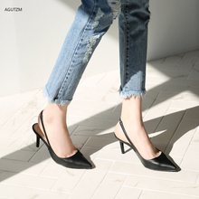 цена на AGUTZM Women Sandals High Heels Summer Brand Woman Pumps Thin Heels Party Shoes Pointed Toe Slip On Office Ladie Dress Shoe H47