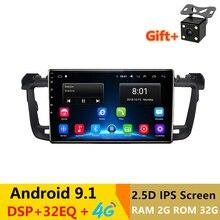 "9 ""2.5D IPS Android 9,1 coche DVD reproductor Multimedia GPS para Peugeot 508 Peugeot 2011, 2012 13 14-2017 radio con DSP 32EQ estéreo navegación"