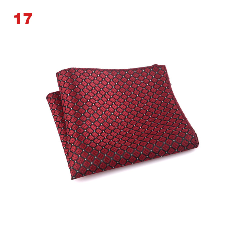 Handkerchief Vintage Men's Square Pocket Square Handkerchiefs Scarves Cotton Flower Pink