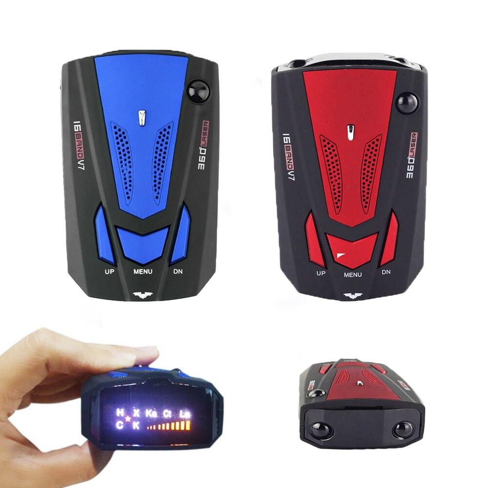 Detector de Radar de coche de 12V Inglés/ruso Auto 360 grados vehículo V7 velocidad alarma de alerta de voz advertencia 16 banda pantalla LED OkeyTech, Sensor de aparcamiento Parktronic, 4 Sensor de marcha atrás, Detector de Radar, LED Digital, asistencia para aparcamiento de coches, sistema de alarma para todos los coches