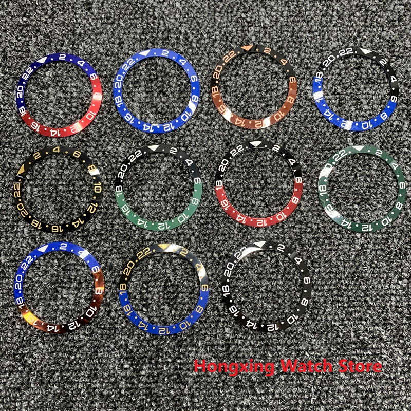 38mm Watch Ring Ceramic Bezel Insert Ring For GMT Watch 40mm Casing Watch Accessories Inner Diameter 30.8mm