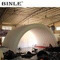 Фирменный арочный Стиль Гигантское Надувное ступенчатое покрытие надувная концертная воздушная крыша палатка белый шатер купол для улицы
