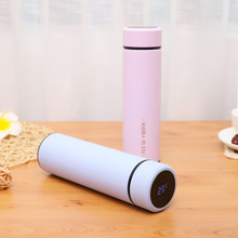 Thermos cup Tea Vacuum Flask With  Filter Stainless Steel 304 Thermal Cup Coffee Mug Water Bottle Temperature display  bottle 450ml hot water thermos tea vacuum flask with filter stainless steel 304 sport thermal cup coffee mug tea bottle for winter