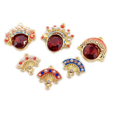 все цены на 1pcs diy handmade jewelry accessories vibrating the same paragraph chinese style beijing opera facebook red earrings material