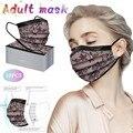 10 шт., кружевная дизайнерская маска для взрослых, одноразовая маска для лица, модная маска для защиты, маски для лица