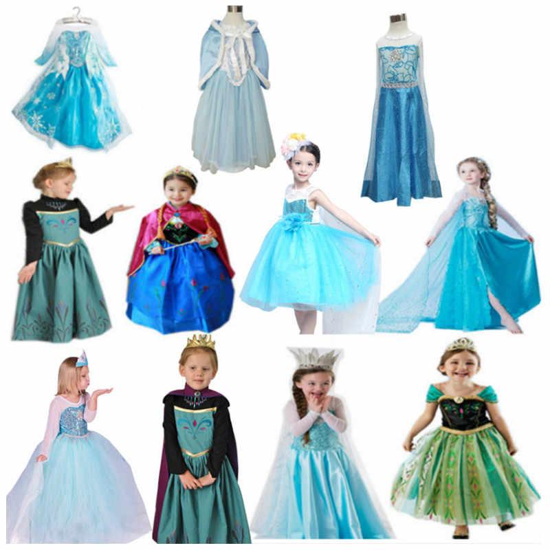 FindPitaya Lotto 2 Abiti Elsa e Anna Vestito da Partito di Compleanno Di  Natale Ragazze Da Neve Queen Cosplay Costume con accessori|Girls Costumes|  - AliExpress