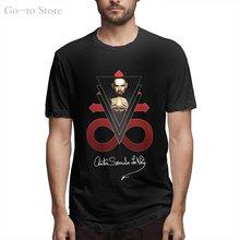 Camiseta anton lavey igreja satã assinatura autógrafo crowley 666