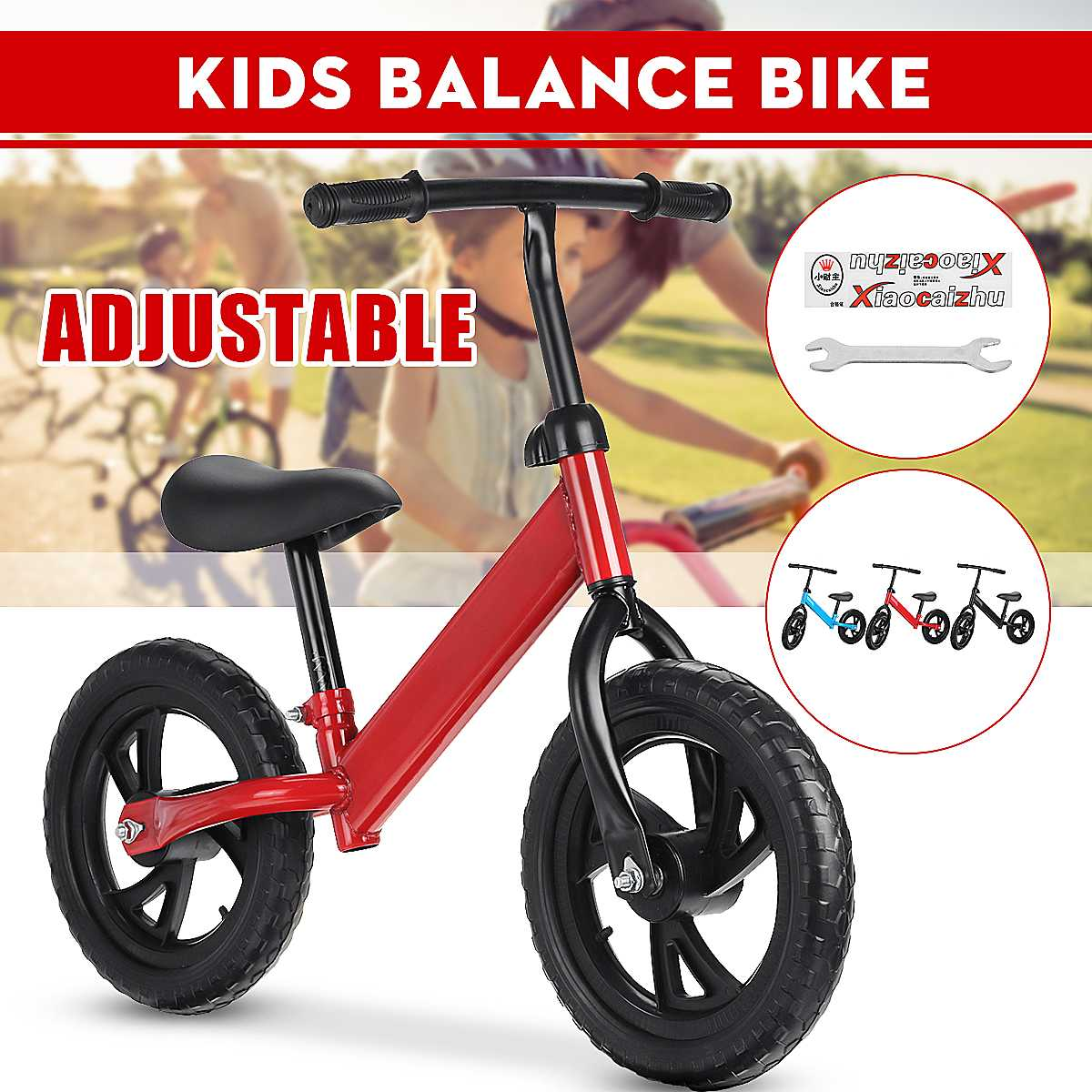 12 Inch Baby Balance Bike Walker Kids Ride On Toy For 2-6 Years Old Children For Learning Walk Two Wheel Scooter No Foot Pedal
