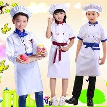 Дети повара костюм для Хэллоуина карнавальный Костюмы для косплея Еда Услуги фестиваль вечерние производительность Кухня одежда повара набор