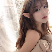 1Pair Elf Ears Fairy Cosplay Accessories Halloween Christmas Party Latex Soft Pointed Tips False Costume Props