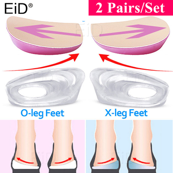 Silicone Gel XO Legs Orthotic Insoles Silicone Gel Arch Support Pad for Women Flat Foot Orthopedic Inserts Pain Relief Shoe pad efbaba silicone gel insole women shoe pad arch supports massage foot pad heel pain relief orthopedic shoes insoles accessoires