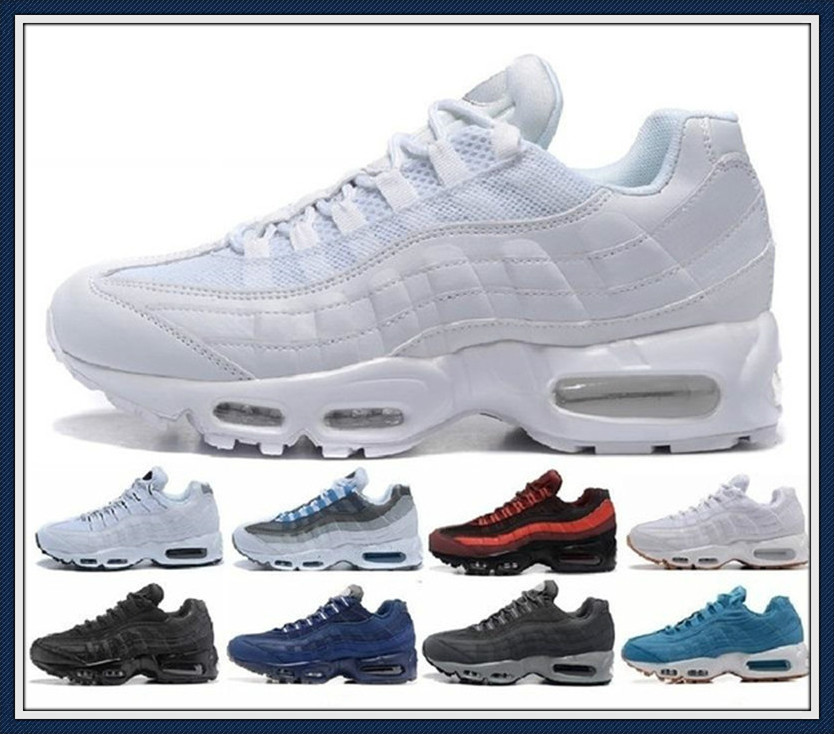 2019 Air Og Max 95 Cushion Navy Sport High-quality Chaussure 95s Walking Boots Men Casual Shoes Sneakers Women