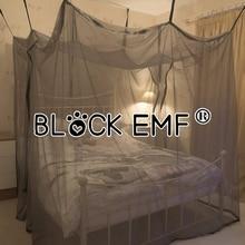 Silver fiber mosquito net electromagnetic radiation shielding canopy blcok emf emi wifi singal netting