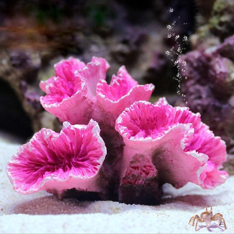 Simulation Coral Aquarium Decor Resin Ornaments Fish Tank Landscaping Decoration