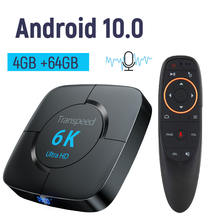 Android 100 4 ГБ 64 ТВ коробка 6k youtube google assistant 3d