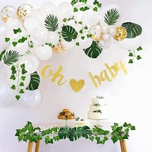 Baby Shower Kids Birthday Balloons Gold Glittery Letters OH BABY With Heart Banner Its a Boy It's A Girl Oh Baby Printed Party S baby shower boy girl decorations set it s a boy it s a girl oh baby balloons gender reveal kids birthday party baby shower gifts