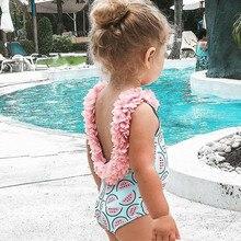 2021 New Baby Girl Swimwear Summer Fashion Print Cute One-Piece Swimsuits Infant Toddler Swimsuit Kids Swimwear For Girls