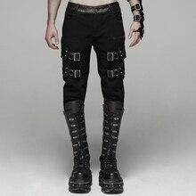 Панк рейв мужские панк Рок красивые стрейч брюки эластичная саржевая ткань Slim Fit уличная Hio Hop индивидуальность мужские s повседневные джинсы