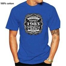 T-Shirt Casual da uomo in cotone 100% con stampa popolare acquista agosto 1983 Legends 35 ° regalo di compleanno T-Shirt da uomo di 35 anni
