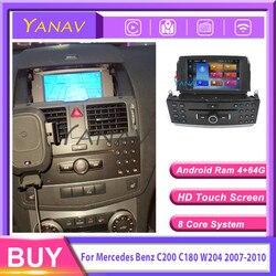 Autorradio con reproductor dvd y pantalla táctil para Mercedes Benz, reproductor multimedia con Android 10,0 para coche Mercedes Benz C200 C180 W204 2003-2012