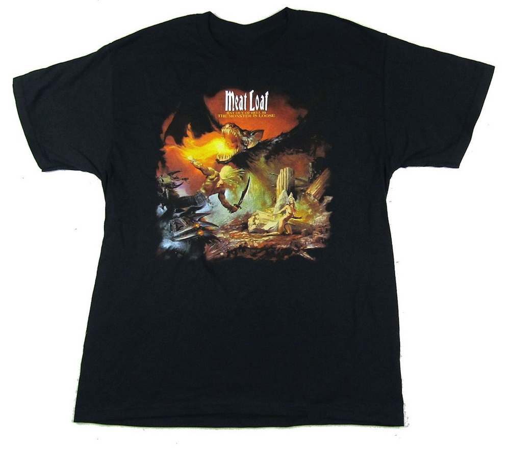 Meat Loaf The Monster Is Loose Black T-Shirt New Official Bat Out Of Hell 2 Cotton Unisex Men Women Tops Tee Shirt image