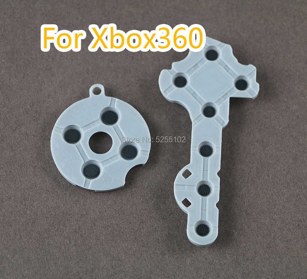 10 Sets 10 Sets for Xbox 360 Controller Conductive Pads Conductive Silicone Button Pad Replacement Part