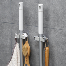 1/3 Pcs Multifunctional Punch-Free Hook ABS Home Mop Broom Handle Clip Holder Hanger Clamp Wallmounted Kitchen Storage Racks D40