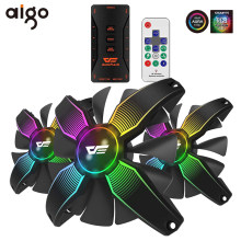 Aigo Darkflash 120 Mm Rgb Fan Computer Pc Case Fan Passen Led Speed Rustige Ir Remote Aura Sync Computer Cpu cooler Cooling Rgb Fan(China)