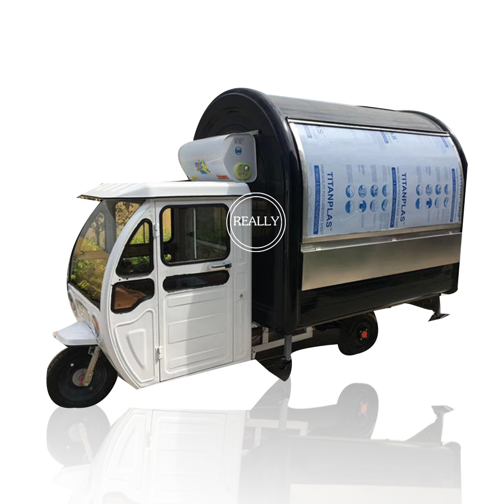 Popular Mobile Hot Dog And Sub Sandwich Electric Cart Tricycle With Air Conditioned For Sale
