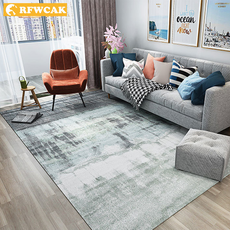 RFWCAK Nordic Abstract Ink Painting Carpet For Living Room Bedroom Anti-slip Large Rug Floor Mat Kitchen Carpets Area Rugs