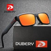 DUBERY Men Sunglasses Fashion Square Polarized Sun Glasses W