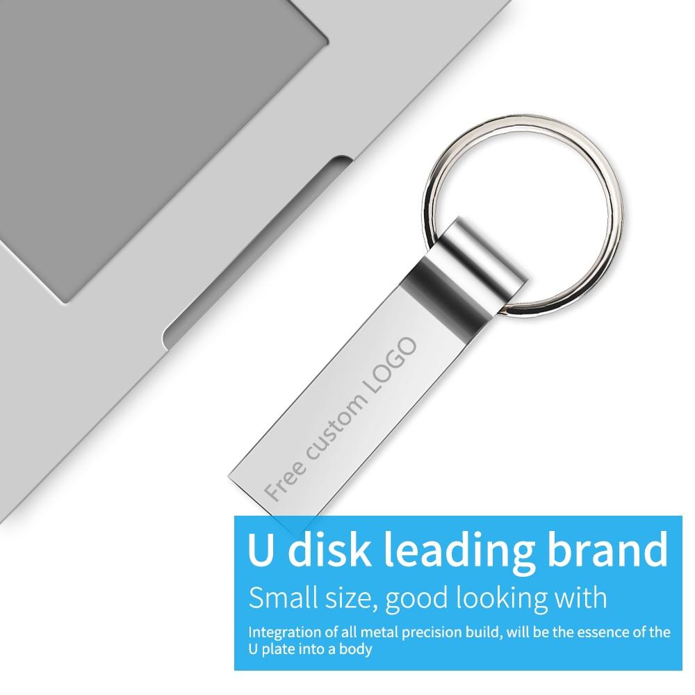 Hot metal pendrive 128GB 64GB usb flash drive 32GB 16GB Key pen drive 8GB flash memory stick cle usb 2.0 u disk Free print LOGO (10)