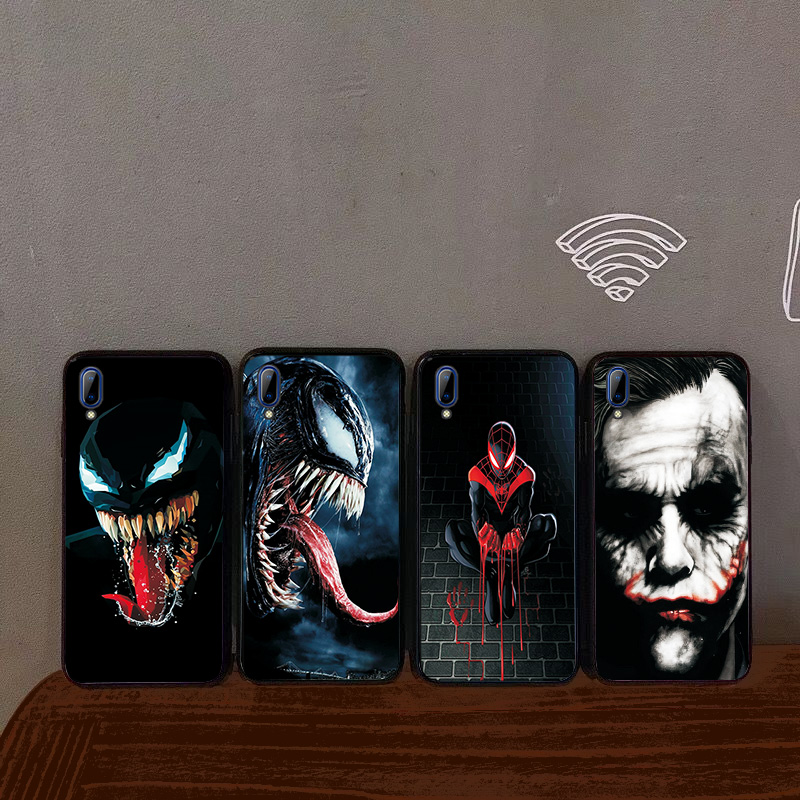 For <font><b>VIVO</b></font> X9 X9S Y81 Y83 Y85 Y81S Y91 Y91i Y93 <font><b>Y95</b></font> X9 X9S Plus <font><b>Case</b></font> Black TPU Back Cover Cool Venom Soft Silicone Shockproof <font><b>Case</b></font> image